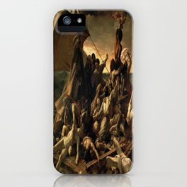 Jean Louis Theodore Gericault's The Raft of the Medusa iPhone Case