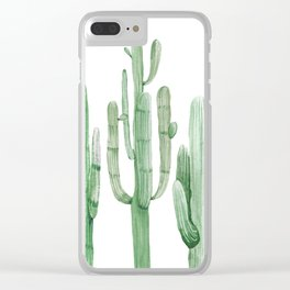 Three Amigos White + Green by Nature Magick Clear iPhone Case