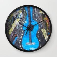 Grunge Guitar Wall Clock