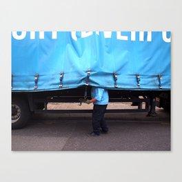 Man & Van Canvas Print