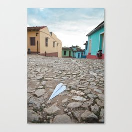 Trinidad Cuba Old City Architecture Cobblestone Streets Urban Photography Travel Island Caribbean La Canvas Print