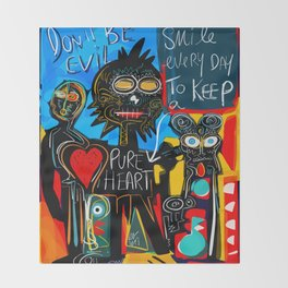 Don't be Evil Street Art Graffiti Throw Blanket
