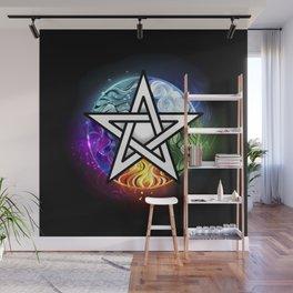 Glowing pentagram Wall Mural