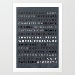 A Maker's Life #2 Art Print