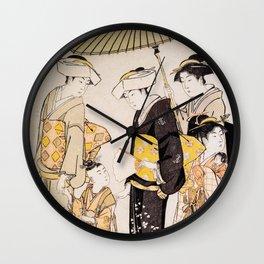 Samurai Girl Wall Clock