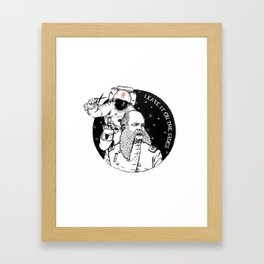 Hairstylist's nightmare - LEAVE IT ON THE SIDES Framed Art Print