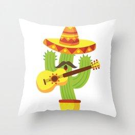 Tequila Fiesta Cinco De Mayo Funny Throw Pillow