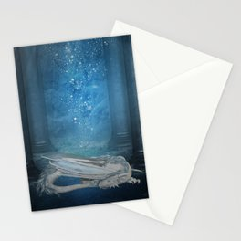 Awesome sleeping ice dragon Stationery Cards