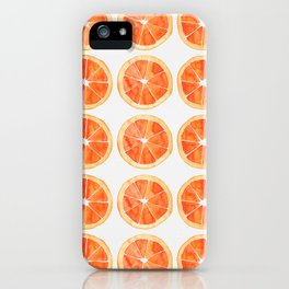 Watercolor Orange Slices iPhone Case