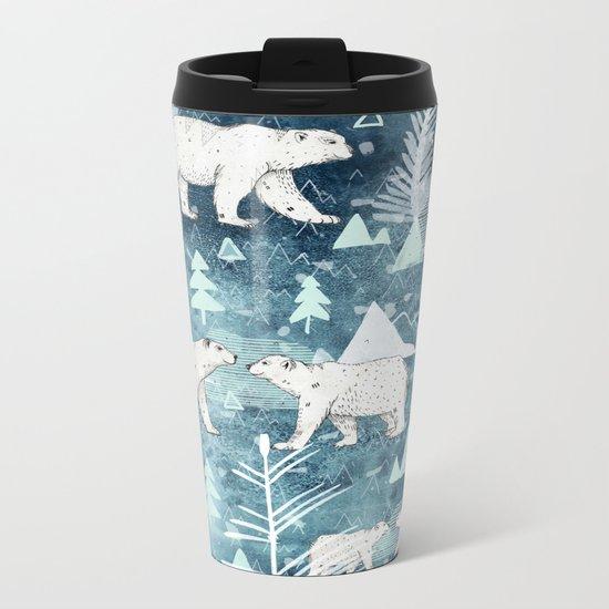 Ice Bears Metal Travel Mug