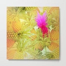Pineapple Delight Metal Print