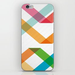 Colorful lines iPhone Skin