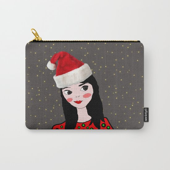 Christmas with you | Kids Painting | Only Love by Elisavet Carry-All Pouch