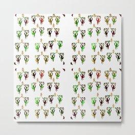 green multi cats Metal Print