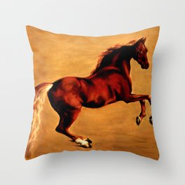 The Horse, after  George Stubbs Throw Pillow