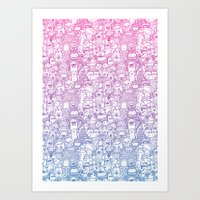 Curly & The Monster Factory Art Print