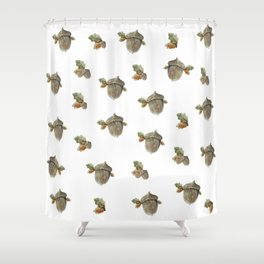 Fall acorn and oak leaves Shower Curtain