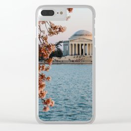 Cherry Blossoms at the Jefferson Clear iPhone Case