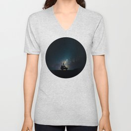 Staring Into The Milky Way Galaxy Over The Australian Outback Unisex V-Neck