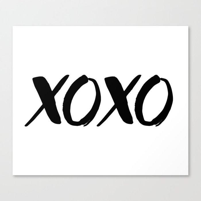 Xoxo Hugs And Kisses Canvas Print By Fineearthprints Society6