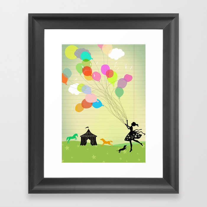 taking off Framed Art Print