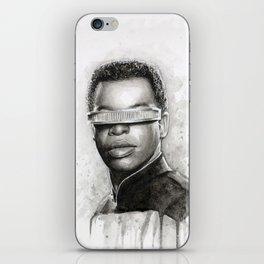 Geordi La Forge Star Trek Art iPhone Skin
