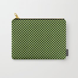 Greenery and Black Polka Dots Carry-All Pouch