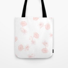 Seamless pattern of beautiful poppy flowers on a white background  Tote Bag