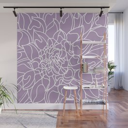 Chrysanthemum Lavender Collection Wall Mural