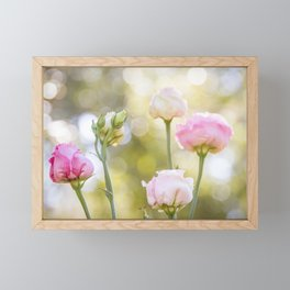 Rose Bokeh Framed Mini Art Print