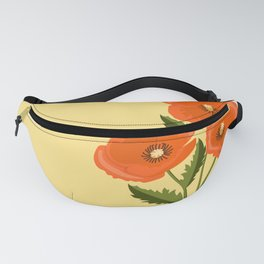 three poppies and sun Fanny Pack