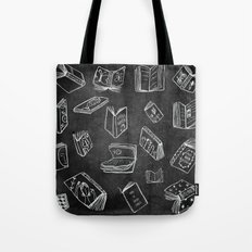 Classic Books - Pattern (Black) Tote Bag
