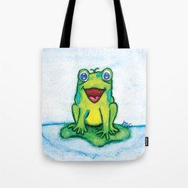 Happy Frog - Watercolor Tote Bag