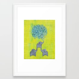 Elephant Family Framed Art Print