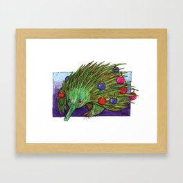 Christmas Tree Echidna Framed Art Print