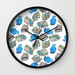 Food pattern Wall Clock