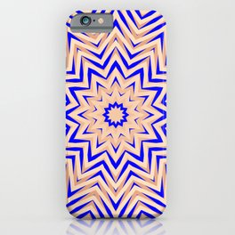 Psychedelic Pink and Blue Mandala iPhone Case