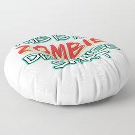 Funny Disguise Tshirt Design Zombie Floor Pillow