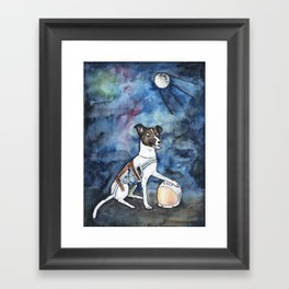 Our hero, Laika Framed Art Print