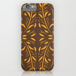 Floral seamless pattern with flowers and leaves hohloma style  iPhone Case