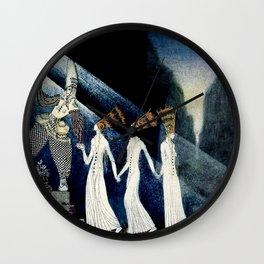 """The Three Princesses"" Kay Nielsen Fairytale Illustration Wall Clock"