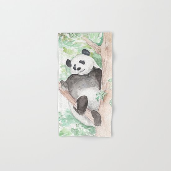 Panda, Hanging Out Hand & Bath Towel