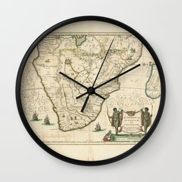 Southern Africa 1640 Wall Clock