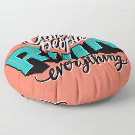 Other People Ruin Everything Floor Pillow