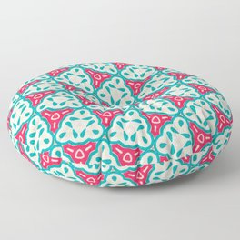 Origami Paper Cyan and Red Triangles Floor Pillow