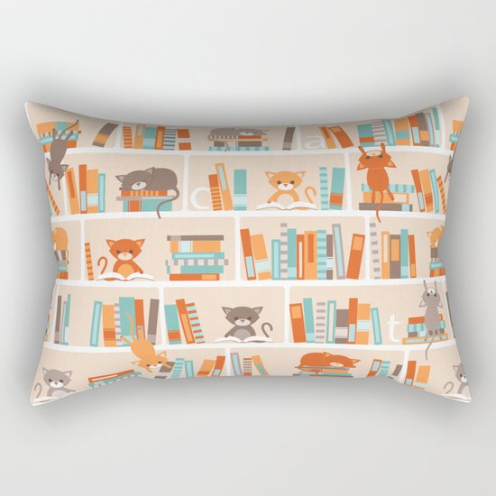 Library cats Rectangular Pillow