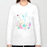 mermaids Long Sleeve T-shirts featuring Mermaids  by Julie Lehite