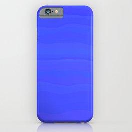 Lazy Blue Sky Subtle Rolling Cloud Stripes iPhone Case