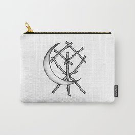 Crescent Moon Rune Binding Carry-All Pouch