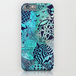 Zentangle Party iPhone Case